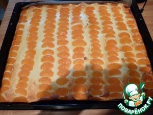 Рецепт Творожный пирог с мандарином