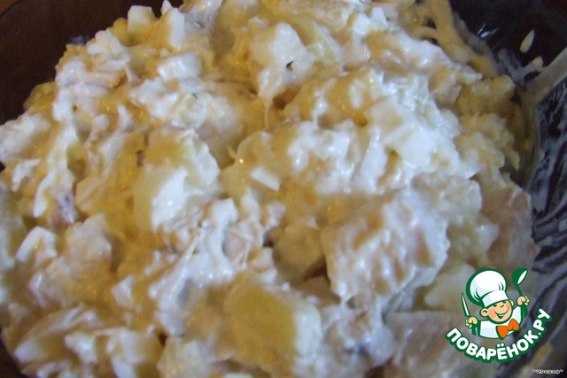 Салат из мидий и кальмаров рецепт
