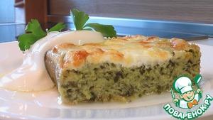 Рецепт Творожный пудинг со шпинатом