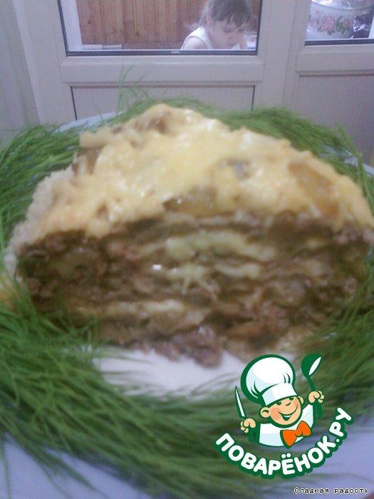 печенью куриною вафельный торт фото с