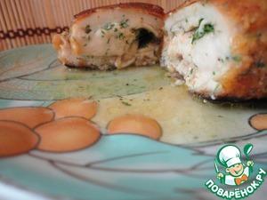 Рецепт Котлеты по-киевски в сырной панировке