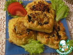 Рецепт Картофельные гнёздышки с грибами и сыром