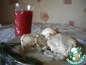 Рецепт Курица в кефире