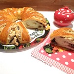 Пирог с меренгой, орехами и шоколадом