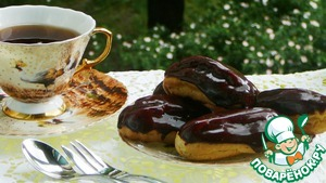 Рецепт Зеркальная шоколадная глазурь для эклеров и тортов