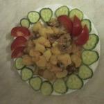Картошка с копчеными ребрышками