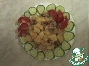 Рецепт Картошка с копчеными ребрышками