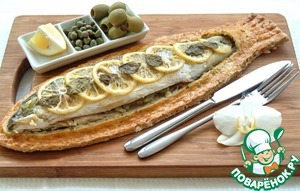 Рецепт Сибас, запеченный в тесте из морской соли и розмарина