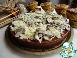 Рецепт Торт с вафлями и а-ля брауни