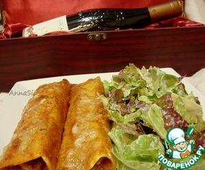 Рецепт Энчилада с говядиной и грибами + домашняя тортилья