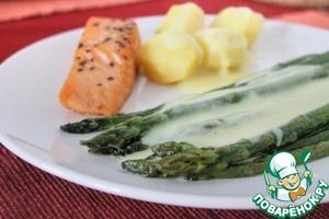 Рецепт Зеленая спаржа за 10 минут