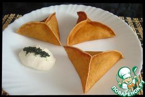 Рецепт Блины с грибами и сыром