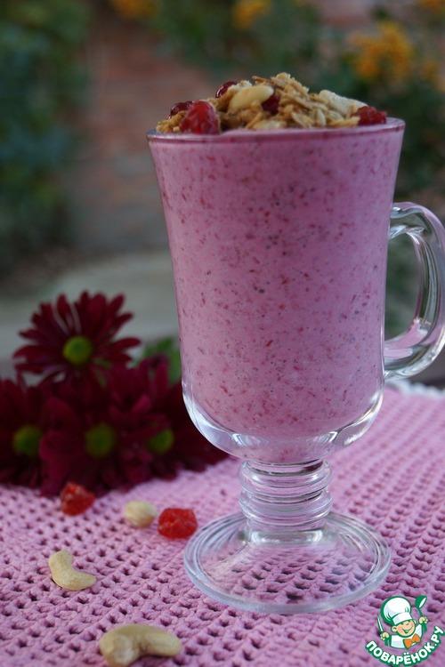Клюквенные мюсли с йогуртом