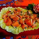Тайский салат из свежей сёмги