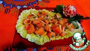Тайский салат из свежей сёмги домашний рецепт с фотографиями пошагово как готовить