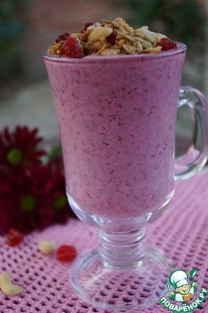 Рецепт Клюквенные мюсли с йогуртом