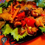 Курица с овощами и кешью по-тайски