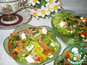 Рецепт Кисло-сладкий овощной салат с черносливом