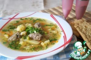 Рецепт Суп с кнелями из куриной печенки
