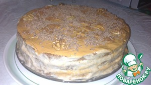 Рецепт Бананово-шоколадный торт из готовых бисквитных коржей