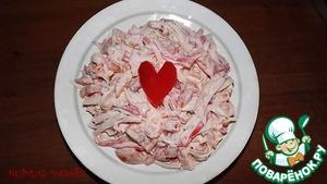 Рецепт Салатик с крабовыми палочками