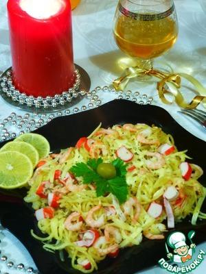 Рецепт Спагетти с винным соусом и крабовыми палочками