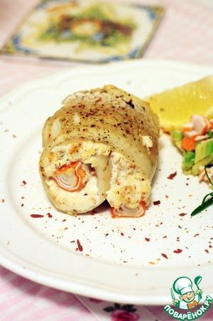 Рецепт Треска по-сицилийски с сальсой из авокадо и крабовых палочек