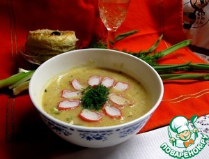 Рецепт Крабово-сырный крем-суп