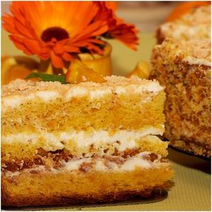 Апельсиновый бисквит (основа для торта)