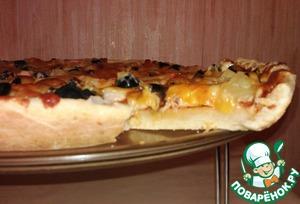 Рецепт Десертная пицца с крабовыми палочками