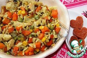 Рецепт Рис с индейкой и морковью