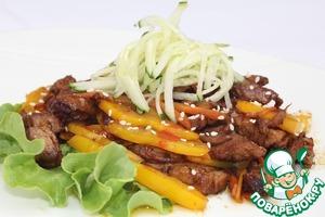 Рецепт Теплый салат из говядины