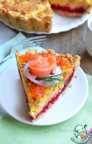 Рецепт Закусочный свекольно-нутовый пирог