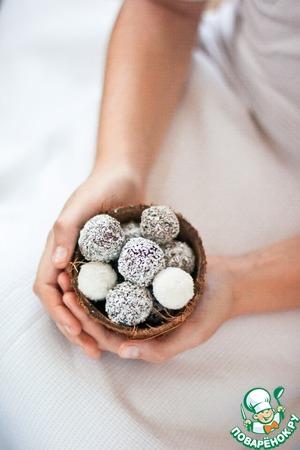 Рецепт Кокосовые трюфели в шоколаде