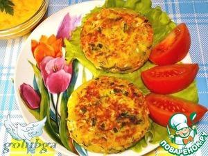 Рецепт Картофельные биточки с крабовыми палочками и соусом