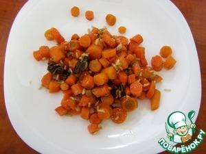 Рецепт Сладкая тушеная морковь с рисом и сухофруктами