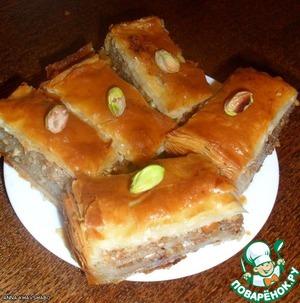 Пахлава или Баклава домашний рецепт с фото