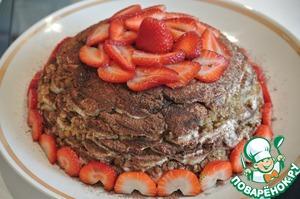 Рецепт Бананово-пряничный пирог без выпечки