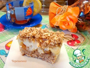 Рецепт Овсяные пирожные с корицей, яблоком и йогуртом