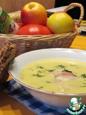 Рецепт Картофельный суп-пюре с хреном и копченой форелью