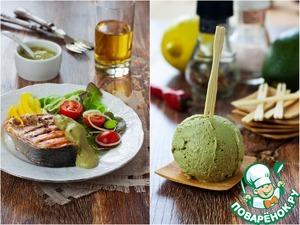 Рецепт Авокадо. Два в одном: острое мороженое и теплый соус к рыбе и овощам