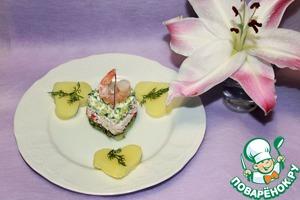 Рецепт Закуска из крабовых палочек на картошечке