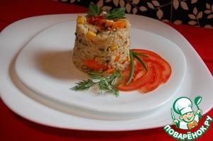 Рецепт Ризотто с кукурузой, крабовыми палочками и перчиком чили