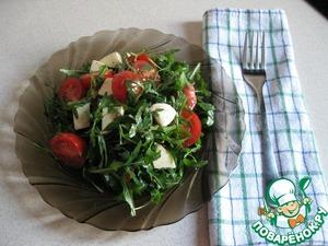 Рецепт Салат с рукколой и помидорами черри