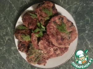 Рецепт Котлеты из картофеля с грибами