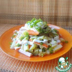 Рецепт Картофельный салат с крабовыми палочками