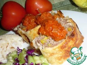 Рецепт Котлеты в тесте юфка с томатным соусом