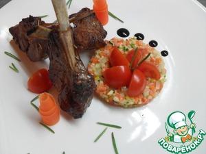 Рецепт Каре ягненка с овощным тар-таром
