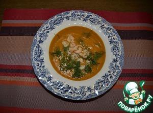 Рецепт Суп тыквенный с креветками