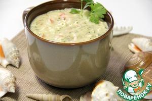 Крабовый суп рецепт